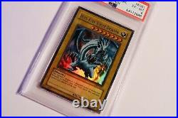Yugioh! Blue Eyes White Dragon LOB-E001 1st Edition PSA 6 EX-MT
