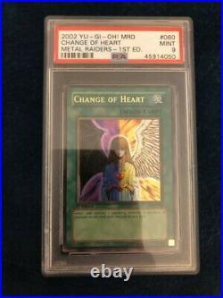 Yugioh Change Of Heart Ultra Rare MRD-060 PSA 9 1ST Edition American English