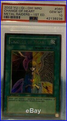 Yugioh Change of Heart MRD-060 1st Edition PSA 10 GEM MINT