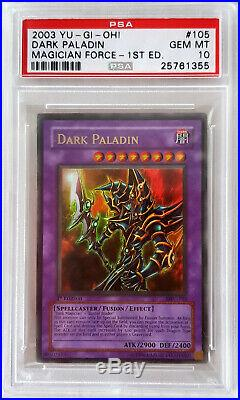 Yugioh Dark Paladin Corrected Art 1st Edition Ultra Rare MFC-105 PSA 10 GEM MINT