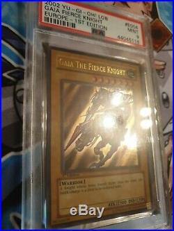 Yugioh Gaia The Fierce Knight European 1st Edition LOB-E004 PSA 9