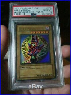 Yugioh PSA 10 Dark Magician LOB 005 1st Edition NEW in GEM MINT Extremely Rare