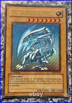 Yugioh SDK-G001 Blue-Eyes White Dragon 1st Edition Ultra Rare
