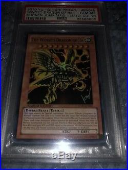 Yugioh The Winged Dragon Of RA JUMP-EN045 Limited Edition PSA 10 GEM Mint GOD