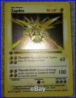 Zapdos 16/102 1st Edition First Ed Base Basic Set Holo Foil Pokemon Card