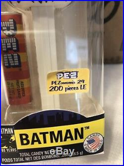 Zebra Batman POP! Pez LE 200! Ultra Rare Funko Pez Dispenser! Variant Sticker